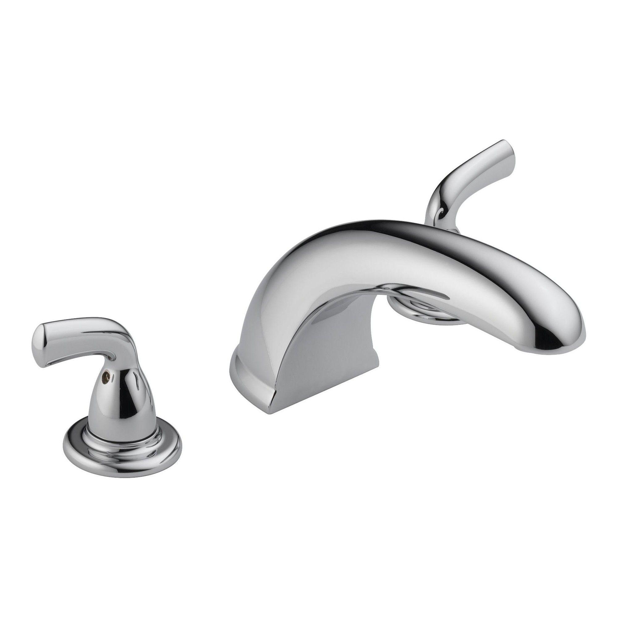 Delta Faucet Bt2710 Foundations Deck Mounted Roman Tub Filler Trim Chrome Grey Roman Tub Faucets Tub Faucet Faucet