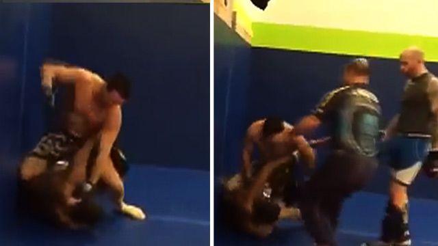 WATCH: MMA fighter Josh Neer BEATS UP heckler at Iowa gym!! #TMZHWDSports