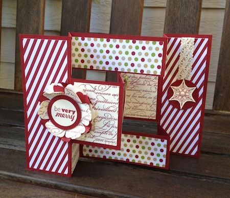 Stampin Connection Folded Christmas Cards Xmas Cards To Make Fancy Fold Cards