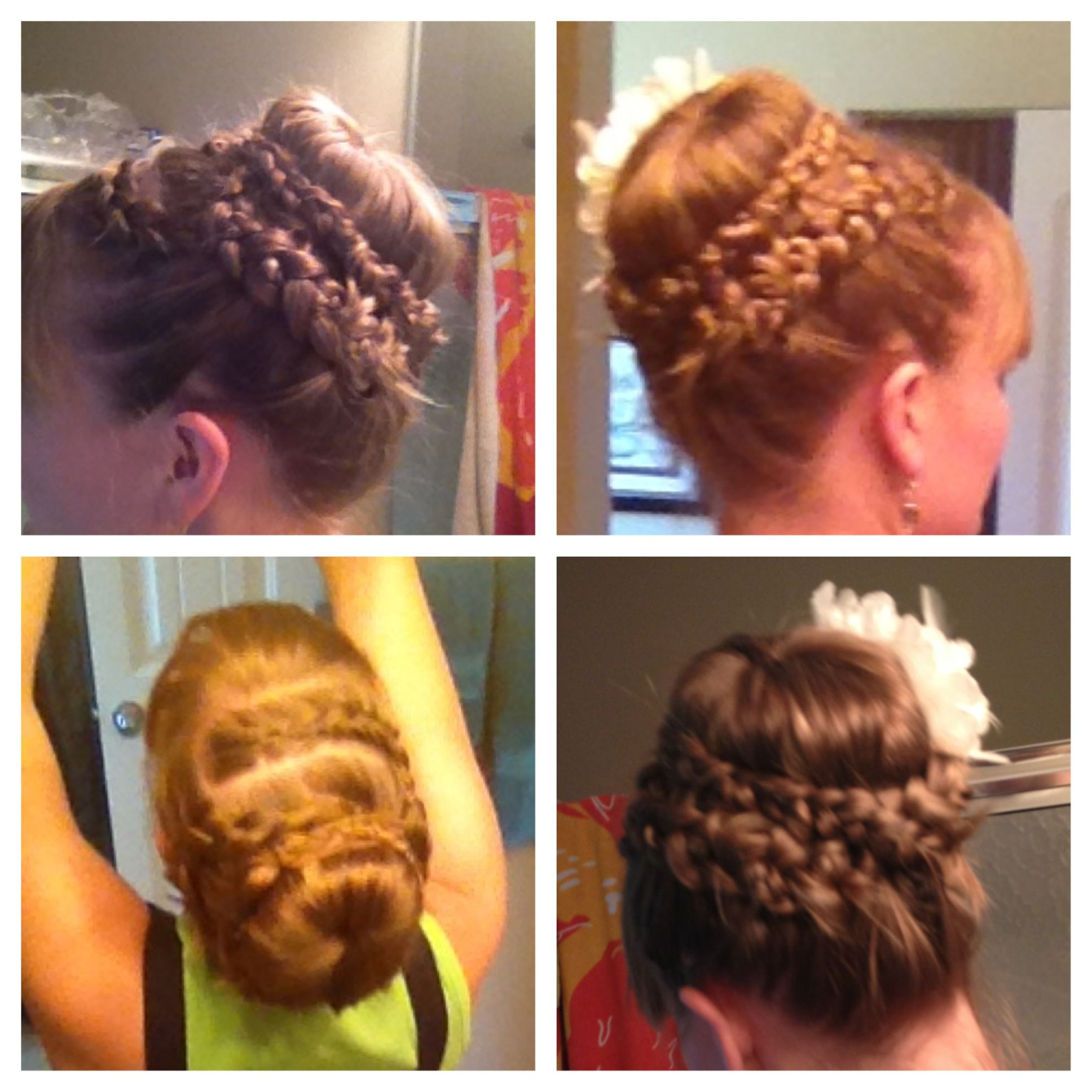 Wedding hair long hair updo braid french braid my style
