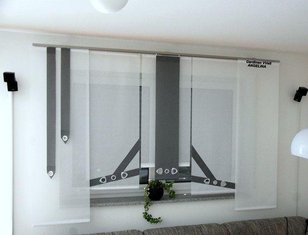 moderne schiebegardinen gardinen neuer und vorh nge. Black Bedroom Furniture Sets. Home Design Ideas