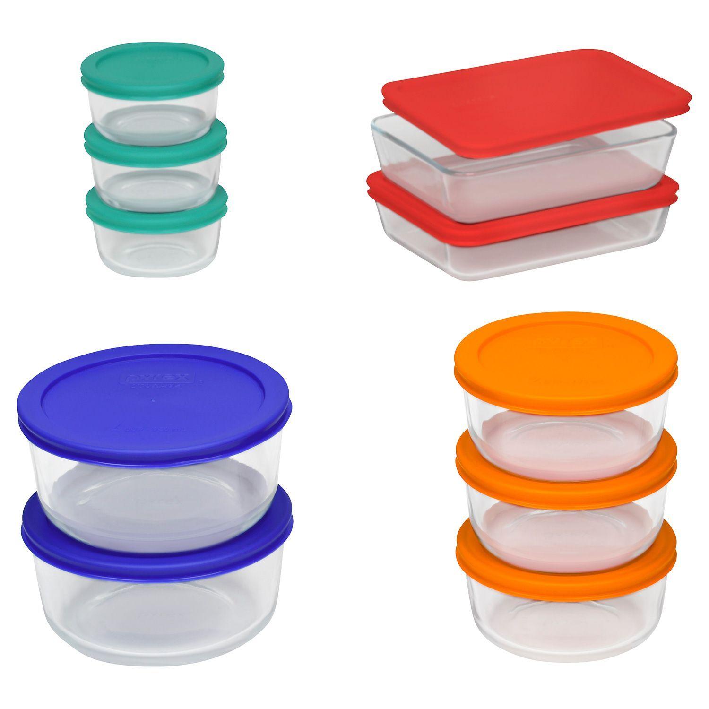 Pyrex 20 Piece Glass Storage Set Glass Food Storage Food
