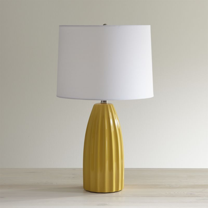 Ella golden yellow table lamp crate and barrel