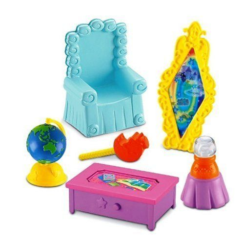 Adventure Room Playset - Dora the Explorer Magical Castle by Fisher Price. $22.79. From the Manufacturer                Dora's Castle Furniture allows you to decorate Dora's Castle with these great transforming furniture sets. Each set comes with an accessory that changes and expands. The assortment includes 6 sets: Dora's Castle Room, Castle Bedroom, Castle Ballroom, Castle Throne Room, Castle Bathroom and Castle Dining Room.                                    Product De...