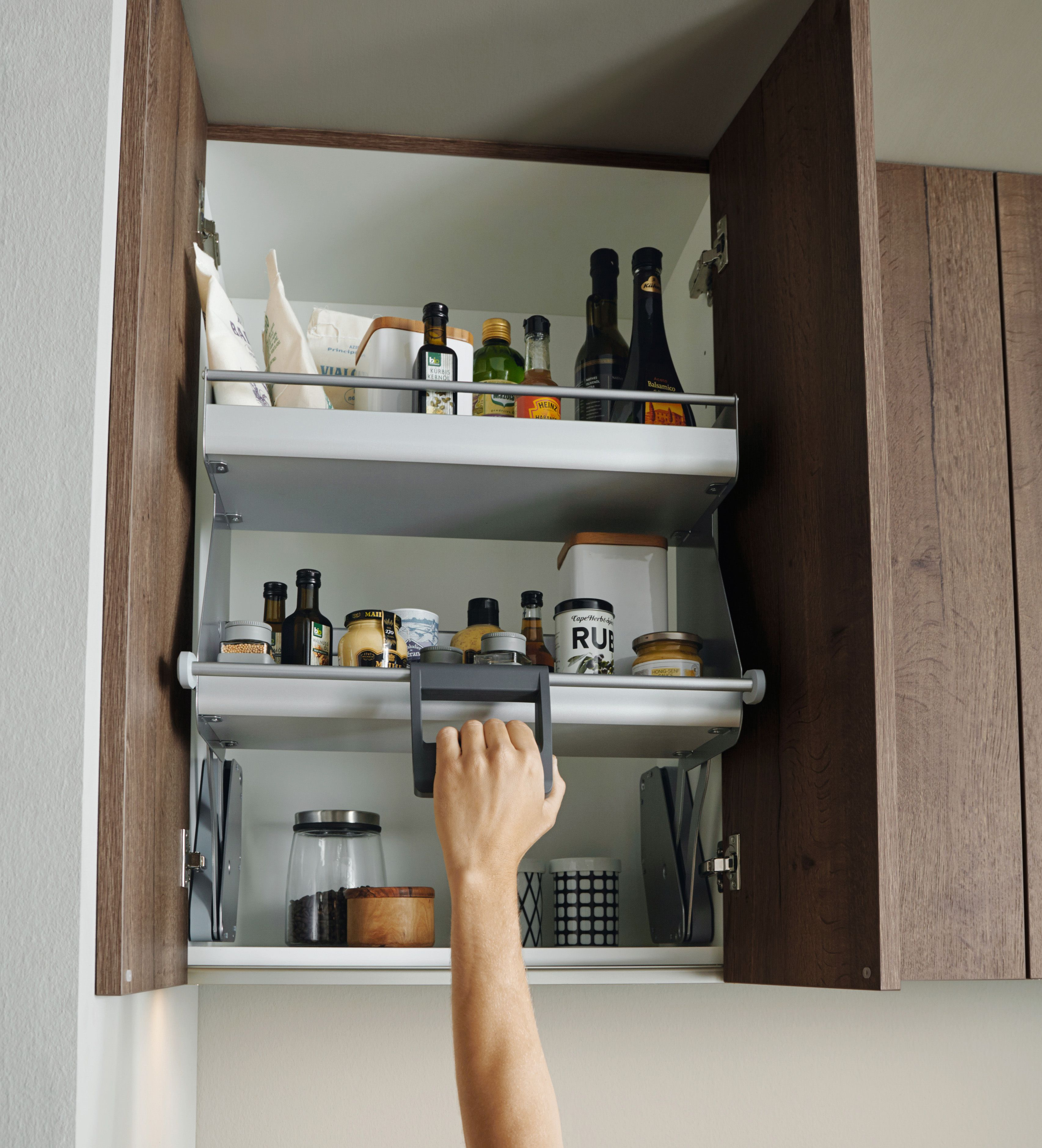 German Kitchen Designs: Schuller Pull Down Shelves