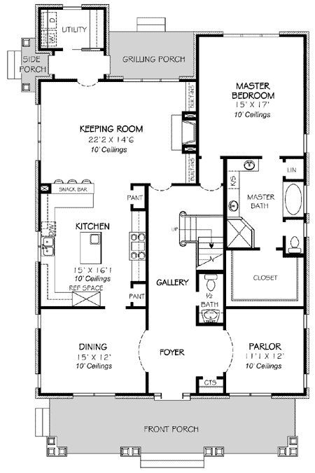 Plan 30702GD Classic Traditional Home Plan Square house plans