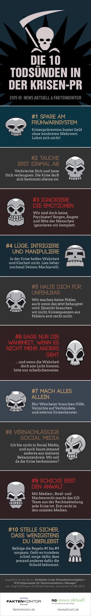 Die 10 Todsünden in der Krisen-PR   Infographics   Pinterest ...