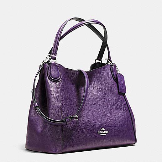 ed412afc8f11 Edie 28 Shoulder Bag in Polished Pebble Leather