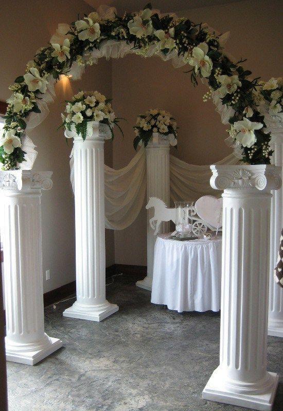 фото декор колонн на свадьбу уверяли нас