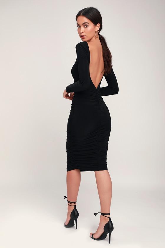 48+ Long sleeve backless dress information