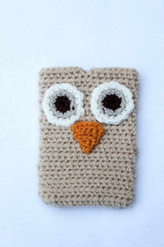 Crochet Owl Cell Phone Case Crochet Owl Phone by smileywileyknits ...