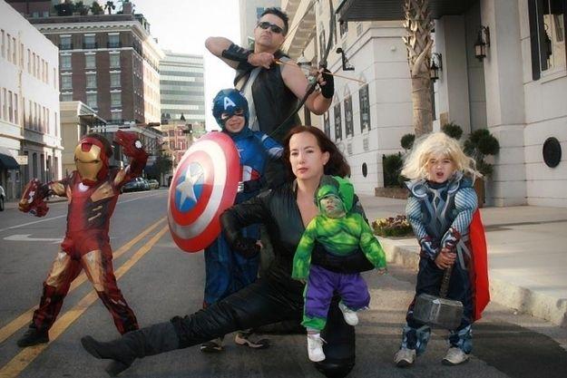 Los Vengadores Los vengadores Halloween y Familiar