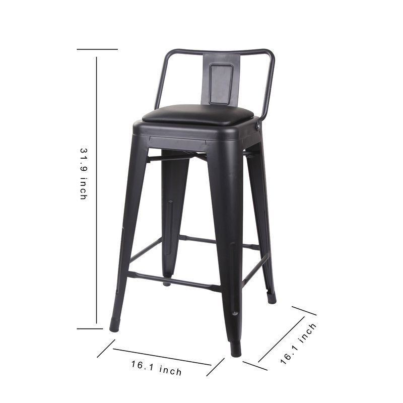 Linon Home Saddle Stool 24 Inch In 2020 Brown Bar Stools High Top Table Kitchen Pub Table Sets