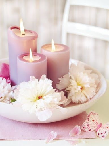 15 Floral Candles Centerpieces With Peony Flowers Candles
