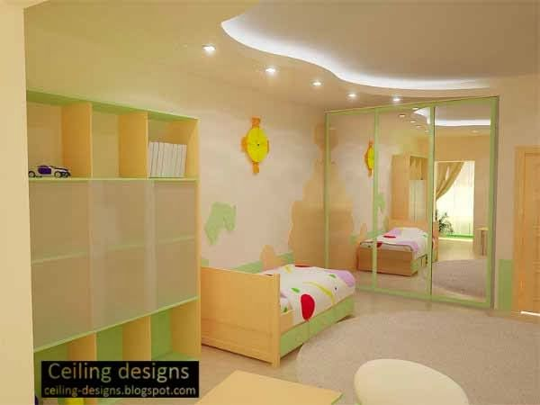Curved false ceiling design for kids room ceiling for Ceiling light for kids room