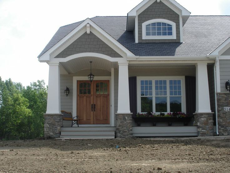 Build Process For Craftsman Style Tapered Porch Columns With An Inset Use The Cornice To Blend T Craftsman Front Doors Home Styles Exterior Craftsman Columns