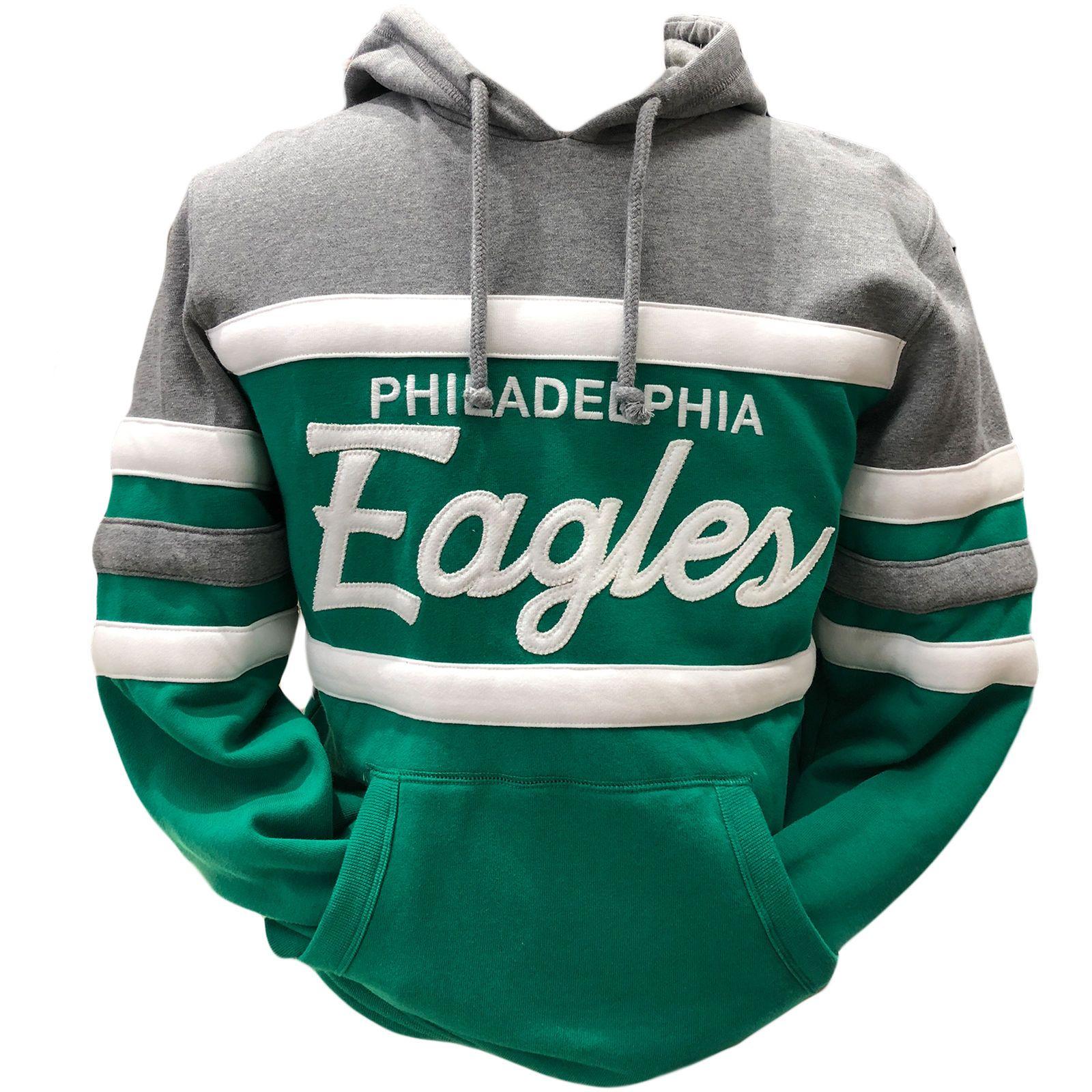 19ad022741d Men's Philadelphia Eagles Throwback Kelly Green Head Coach Pullover Hoodie  | eBay