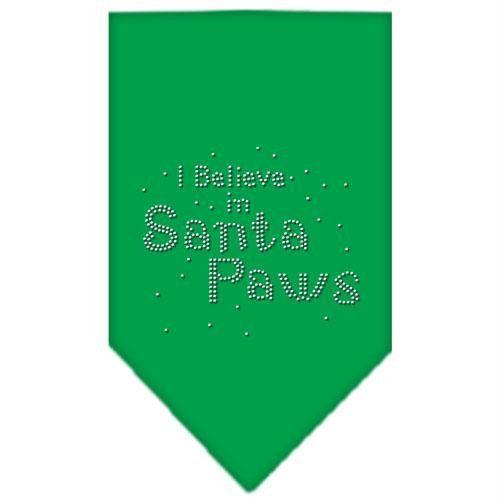 Santa Paws Rhinestone Bandana Emerald Green Large