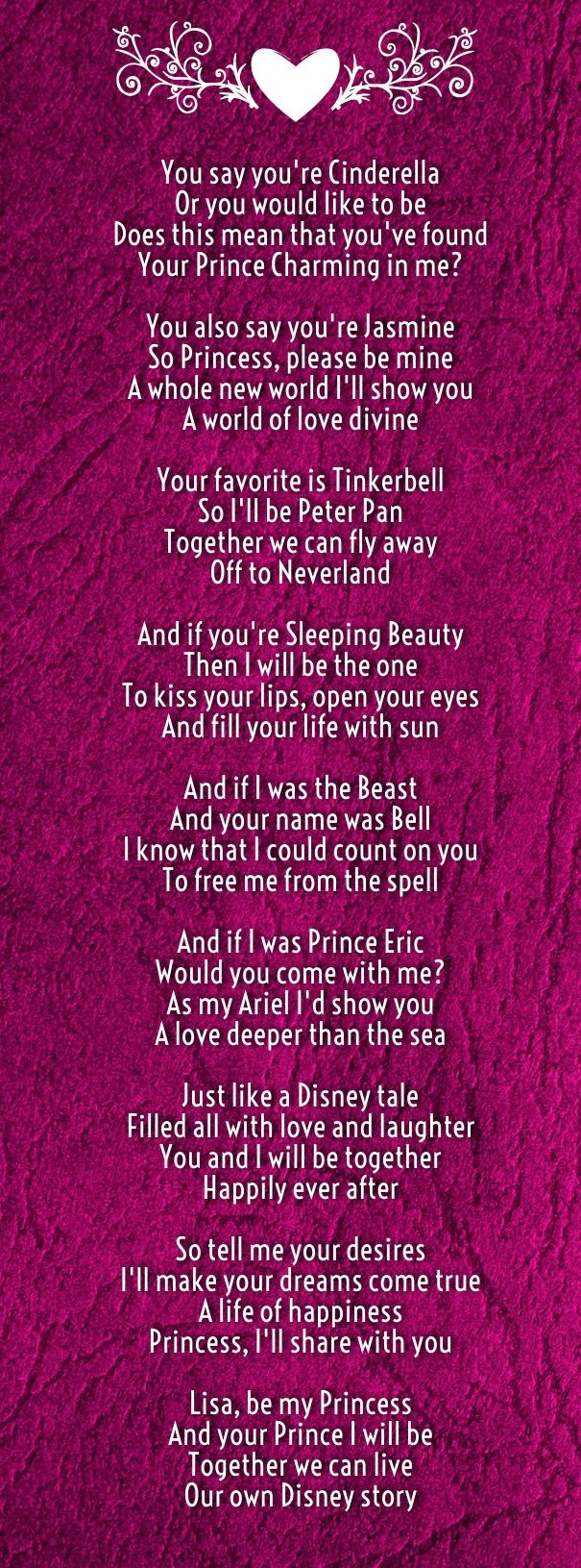 cinderella romantic love poems disney | Love Quotes for Her from The ...