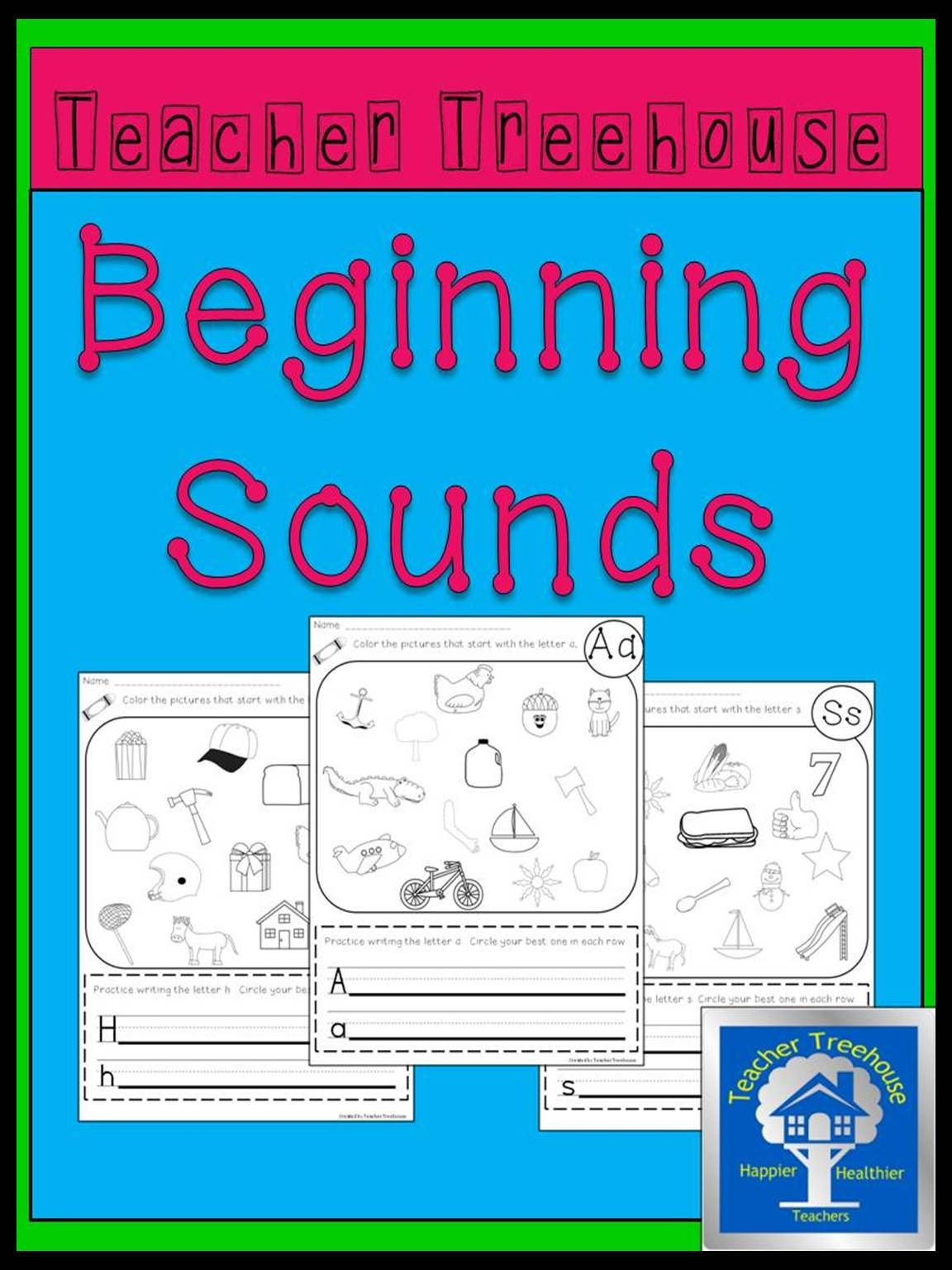 Beginning Sounds Coloring Worksheets