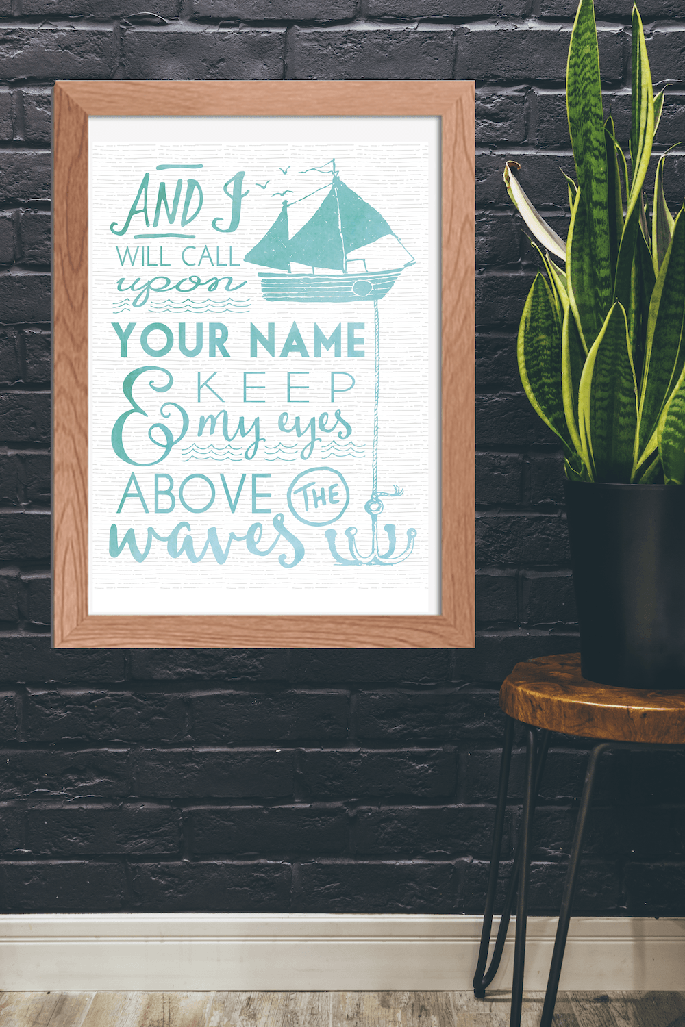 Oceans by Hillsong free printable quote art. Just print and frame for instant home decor!