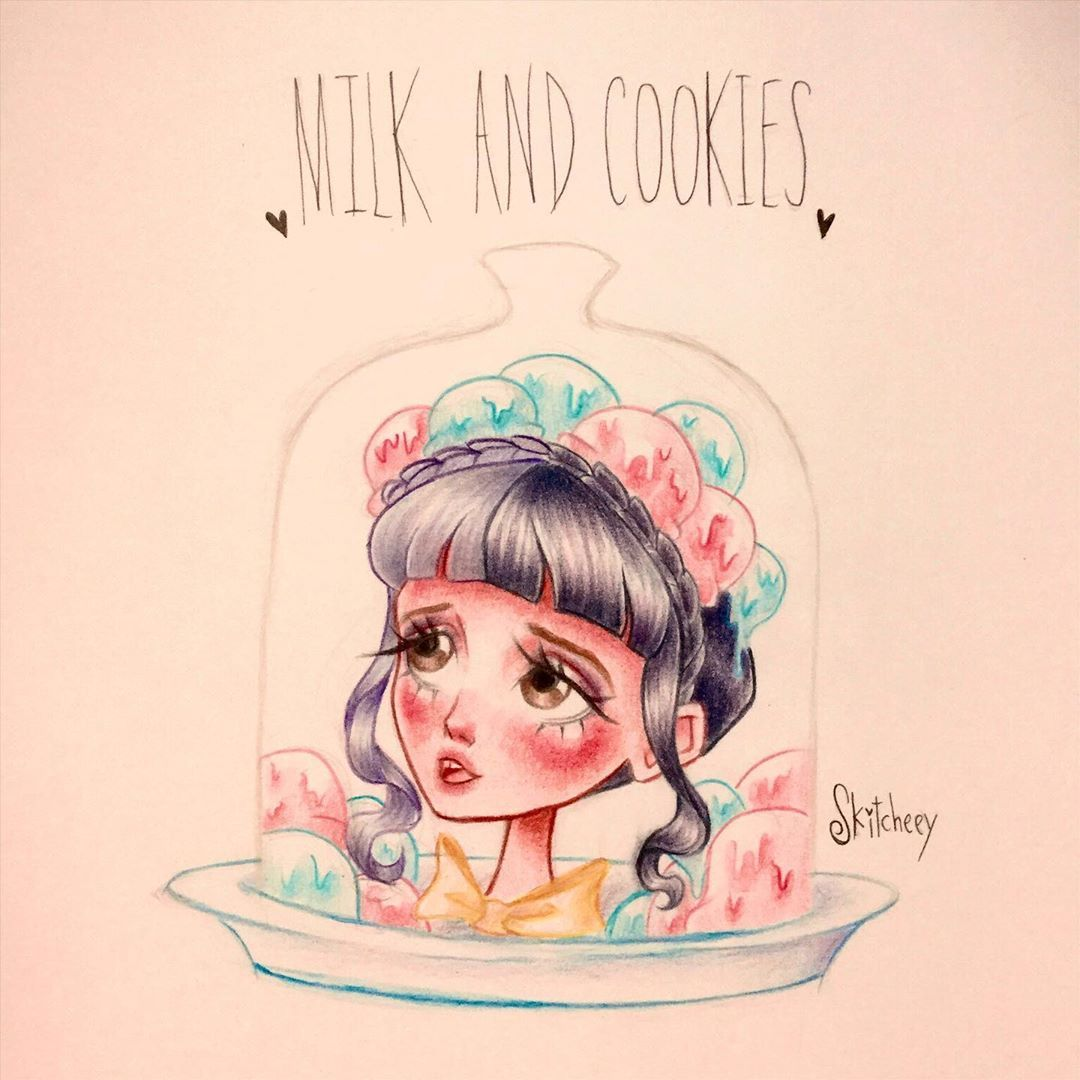Namwa Art On Instagram Milk And Cookies Have Any Question Ask Me Through Dm Melanie Martinez Drawings Tim Burton Art Style Melanie Martinez Mad Hatter
