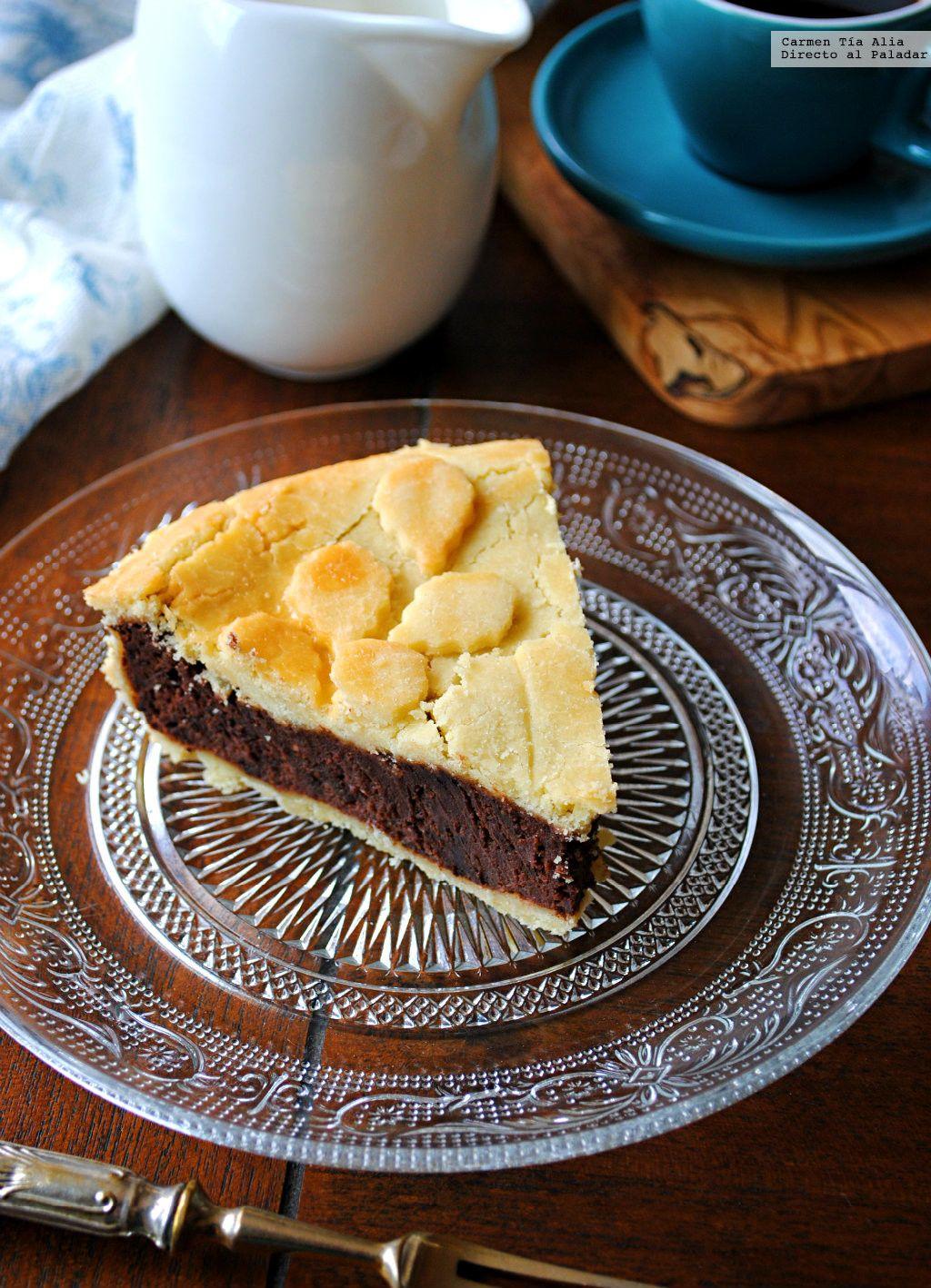 Pastel de chocolate y queso de la abuela, una receta muy especial a la que hemos quitado el gluten