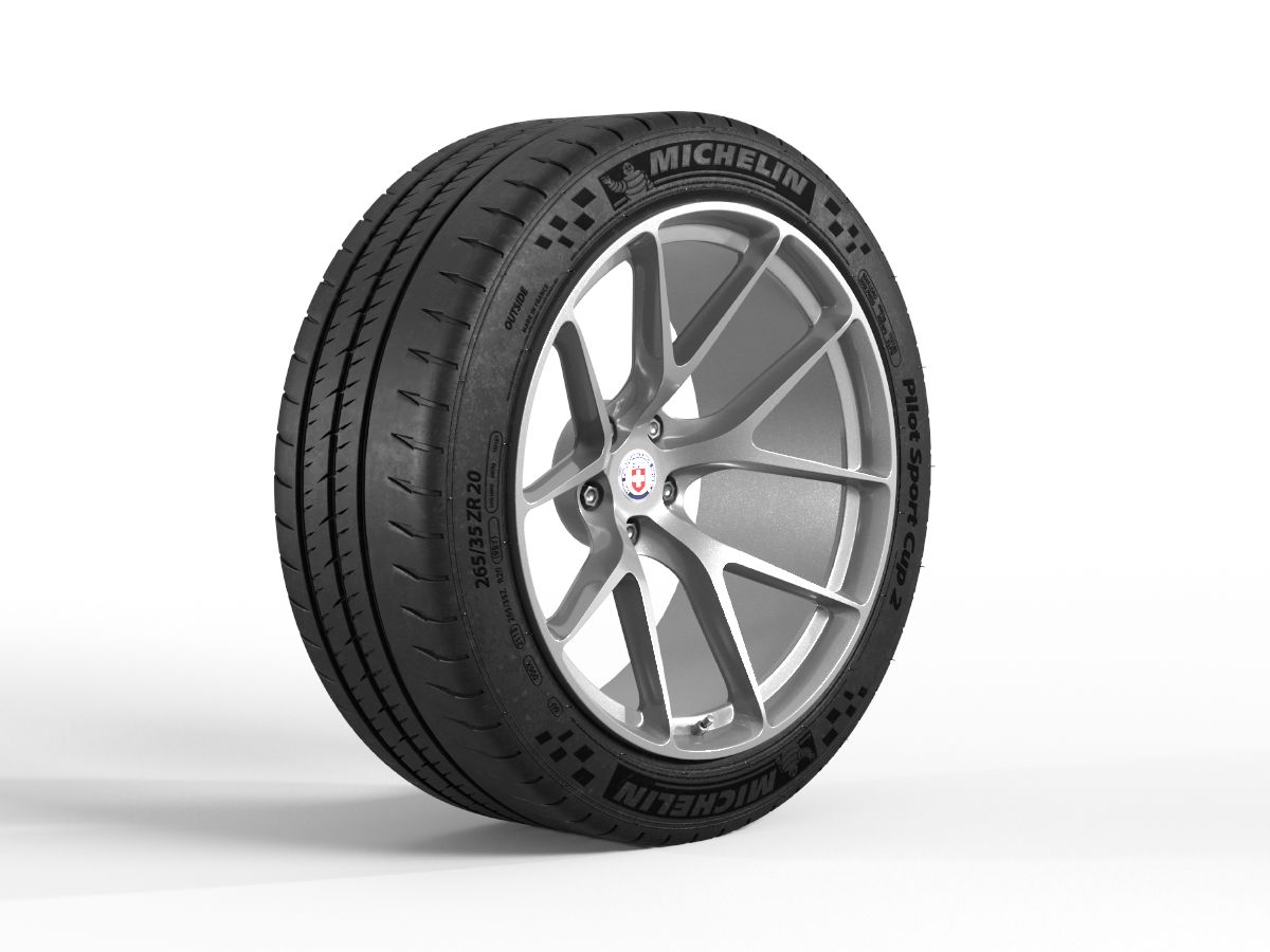 Michelin Pilot Sport Cup 2, medium detailed 3d model with