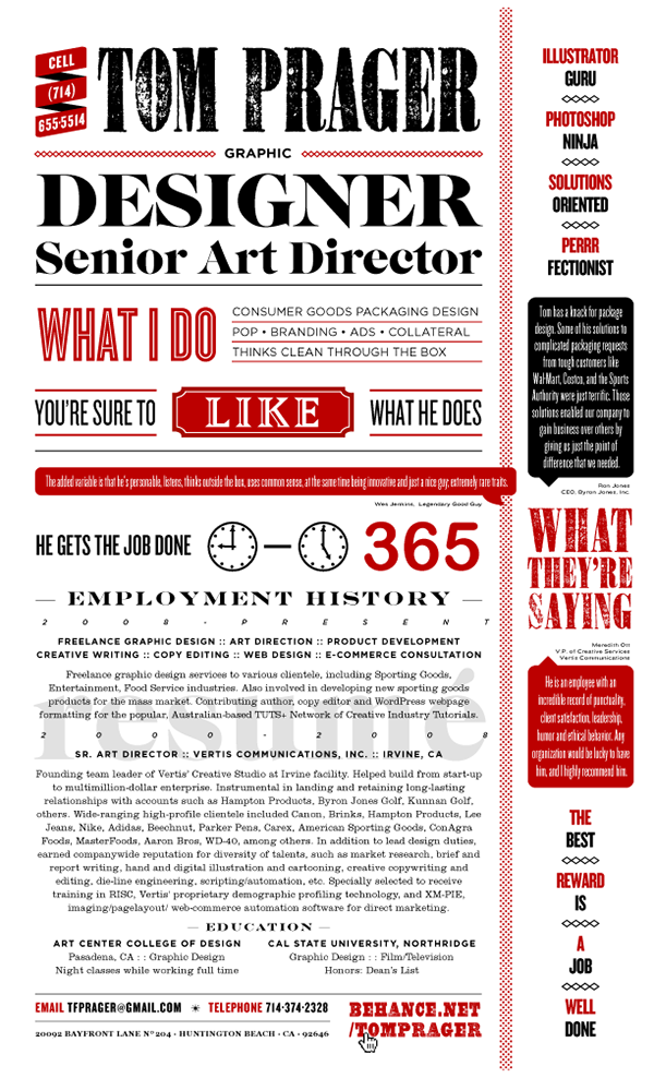 typography resume template
