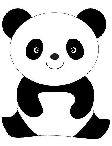Dibujos Tiernos de Osos Panda para Colorear e Imprimir  dibujos