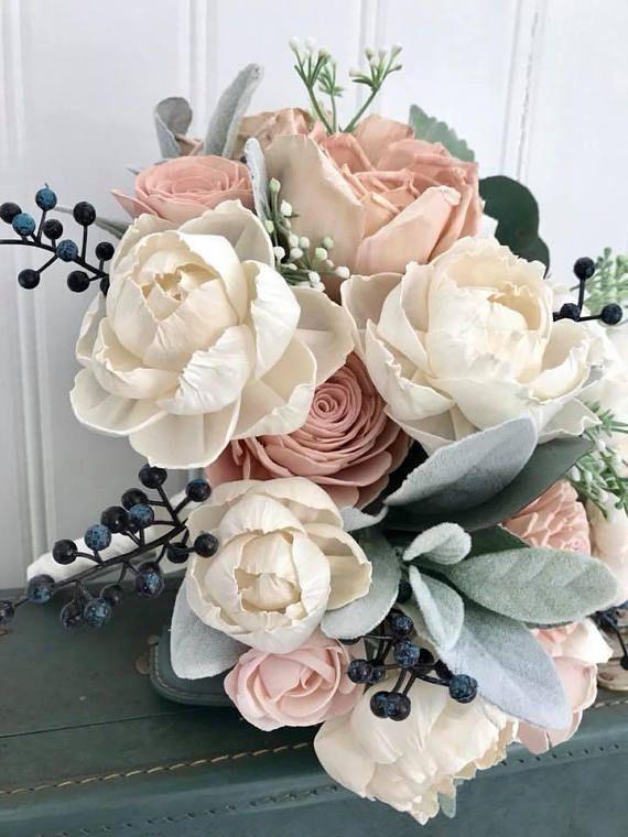 Pantone Bridesmaids Bouquet Sola Flower Bouquet Keepsake Bouquet Vintage Bouquet. Purple