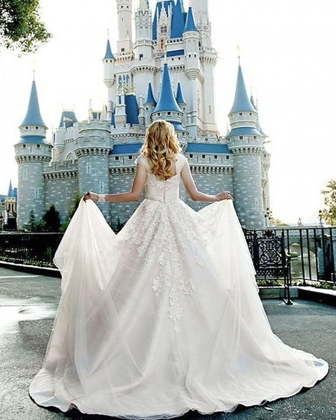 Gorgeous This Totally Made Our Day Double Tap If This Could Be Your Dream Dress Fairy Tale Wedding Dress Disney World Wedding Disney Fairy Tale Weddings [ 1351 x 1080 Pixel ]