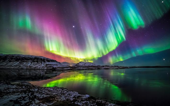Download wallpapers Polar Lights, Northern Lights, natural