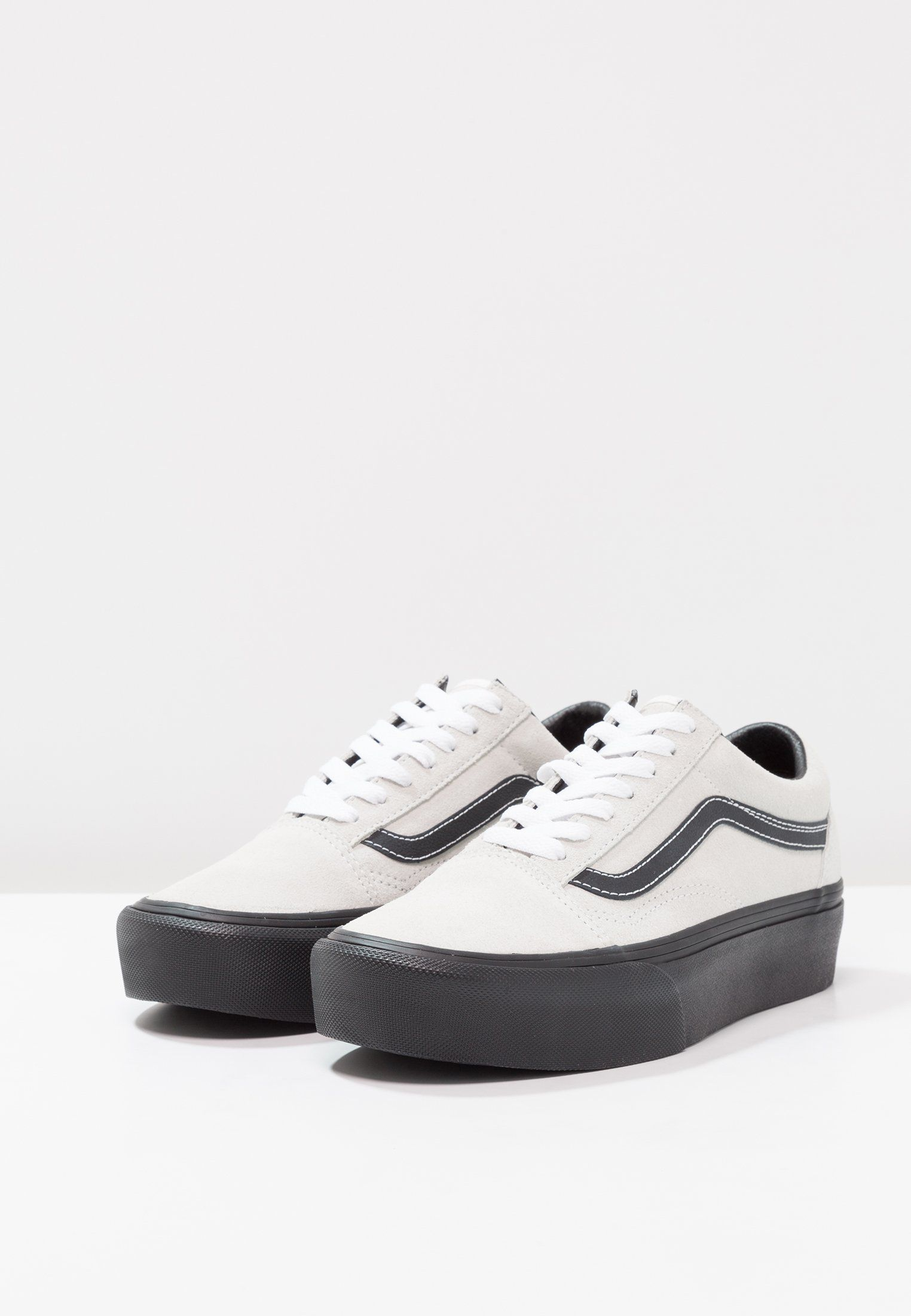 Vans OLD SKOOL PLATFORM - Zapatillas - blanc de blanc/black ...