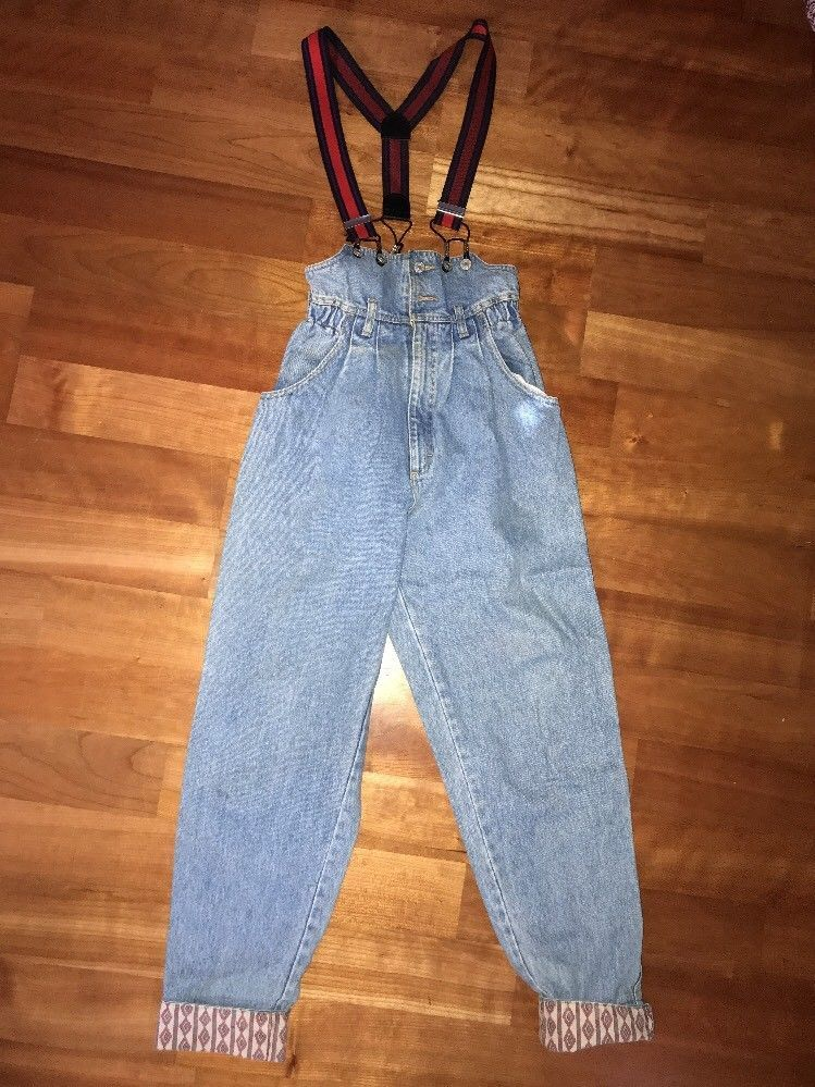 49fd1a82882 RETRO VINTAGE LEE Mom High Waisted Denim Jean Overalls Size 9 SUSPENDERS