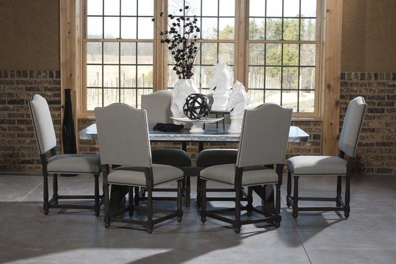 Zinc Table With Charlie Side Chairs Zinc Pinterest Zinc Table. Impressive Zinc  Dining Room ...
