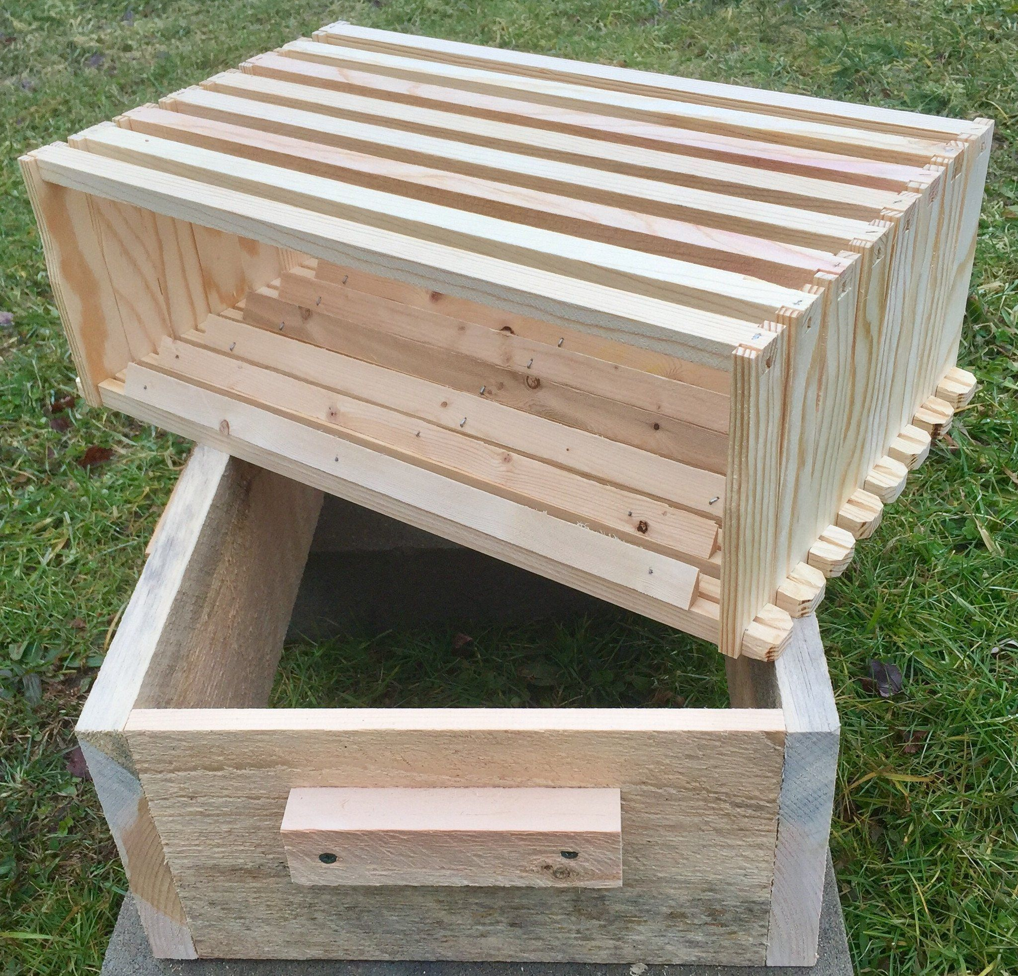 Tri Gable Lea Easier Langstroth Hive Kit 8 Frame Foundationless Langstroth Hive Hives Bee Hives For Sale