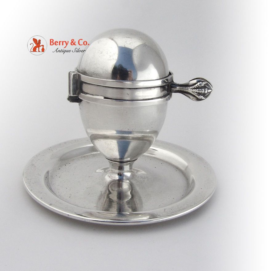 edfabfc29cf6 Egg Cup and Cutter Patent 1910 Sterling Silver | Antique Silver Egg ...