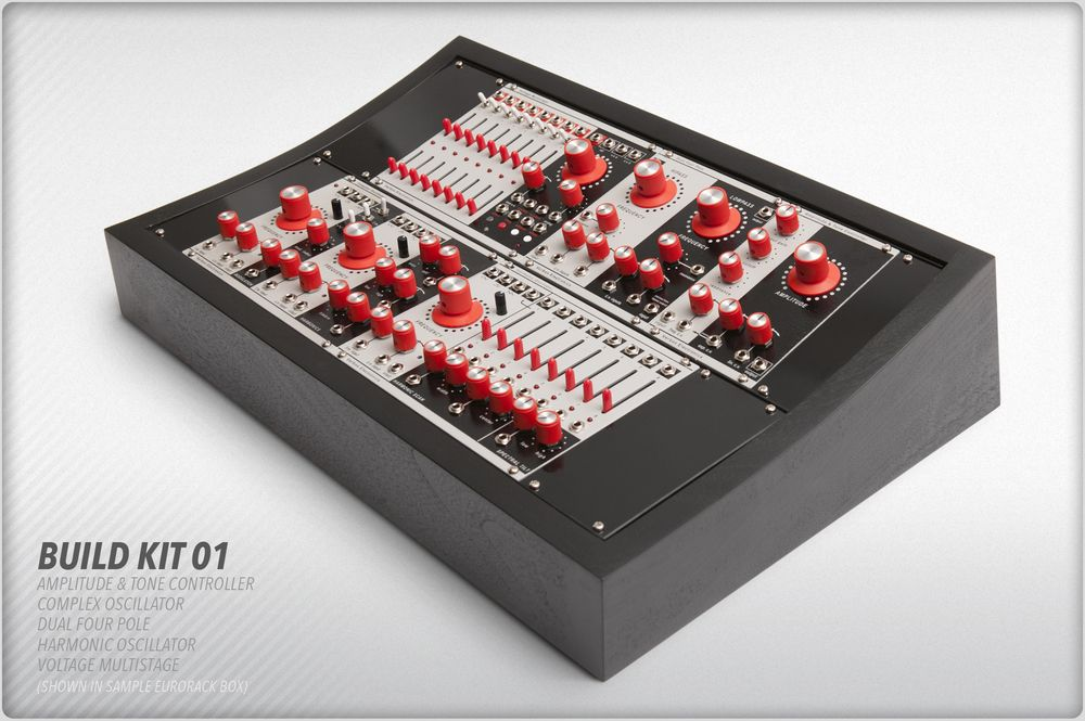 Verbos Electronics new Eurorack modular line. Looks Buchla-esque. Loving the red knobs!