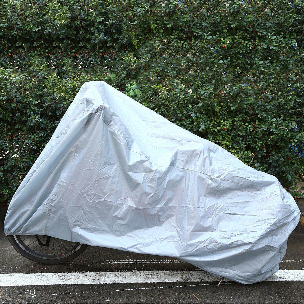자전거 커버 단층 방수 방진 선 스크린 야외 스쿠터 보호기 은색 자전거 레인 사이클링 Wearcover