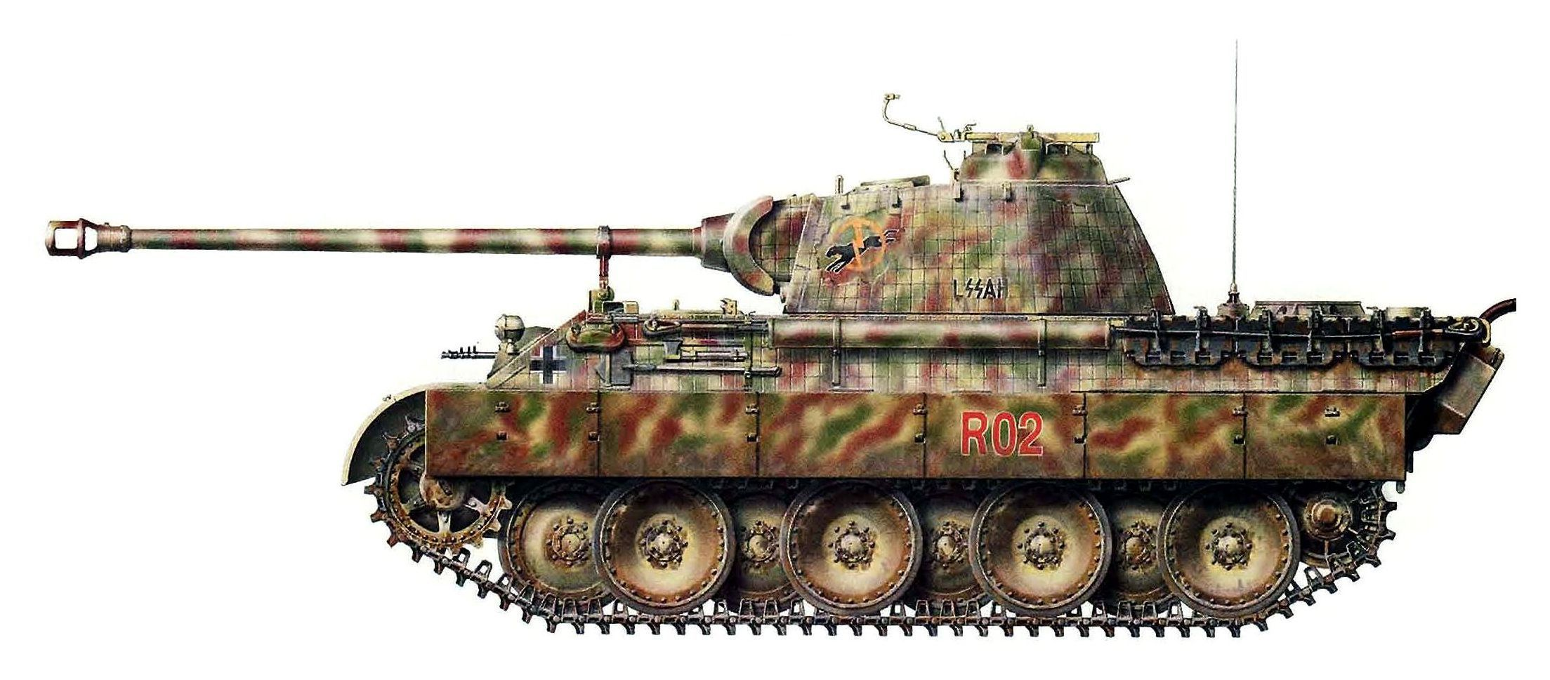 Panther Ausf. A (Befehlswagen), Pz.Rgt. Stab, SS-Pz.Rgt. 1 ...