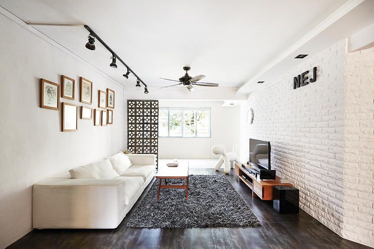 9 Chic Homes With White Brick Walls Home Decor Singapore White Brick Wall Living Room Brick Wall Living Room White Brick Walls