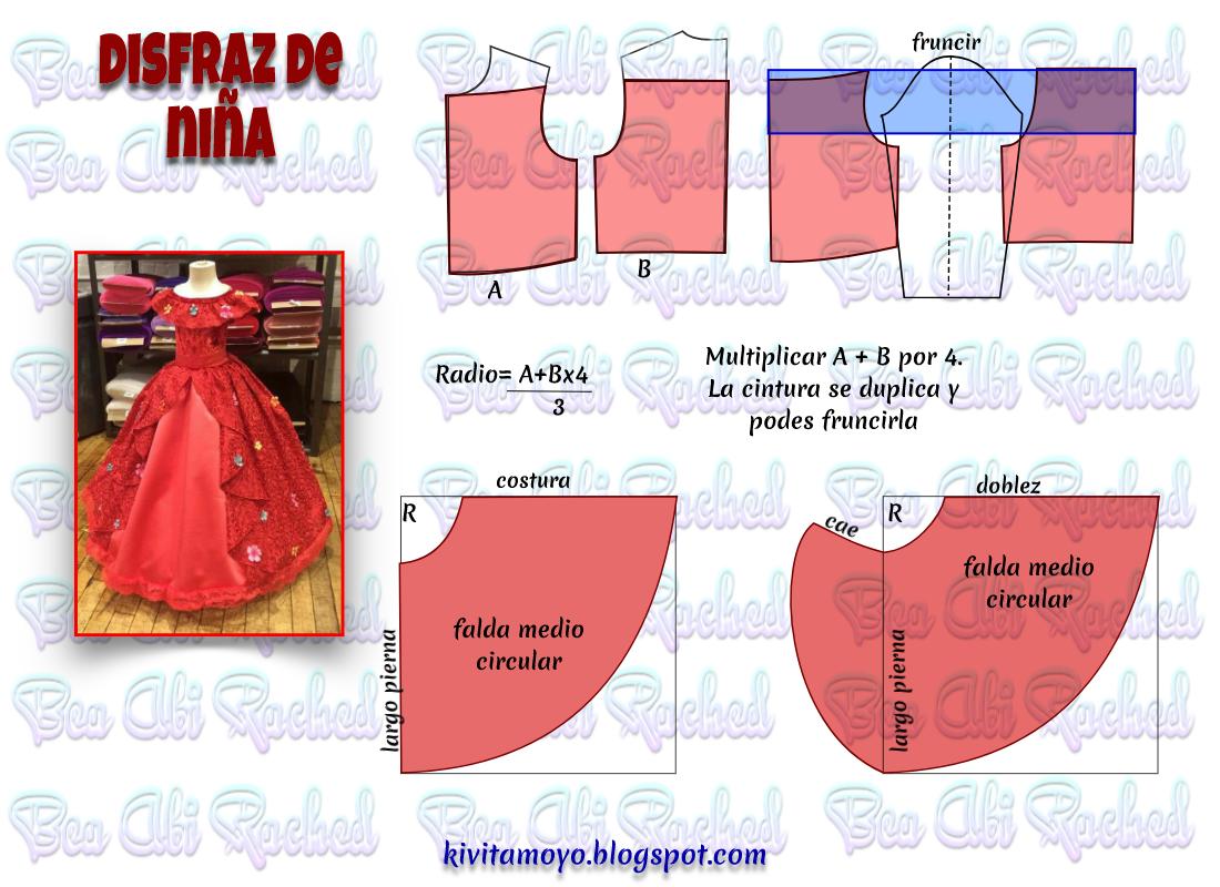 Blog de patronaje y diseño | vestido de princesas | Sewing, Doll ...