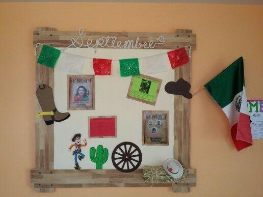Friso del mes de septiembre en la estancia me toco for Puertas decoradas para el 16 de septiembre