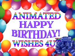 Animated Happy Birthday Wishes 4U Videos Shop