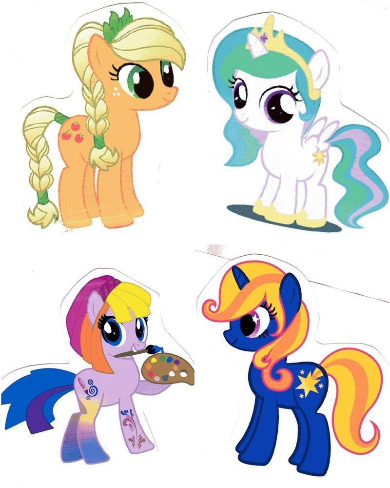 Bügelbilder * kleine Ponys Motive Aufbügeln Transferfolie B 28-1