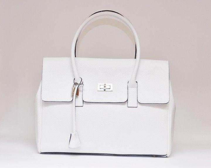 Tara White Leather Handbag | Beautiful bags | Pinterest | White ...