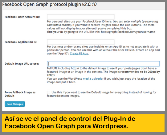 Plugin para WordPress de Facebook Open Graph