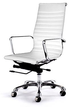 white office chair. a must have. | wishlist | pinterest | office desks