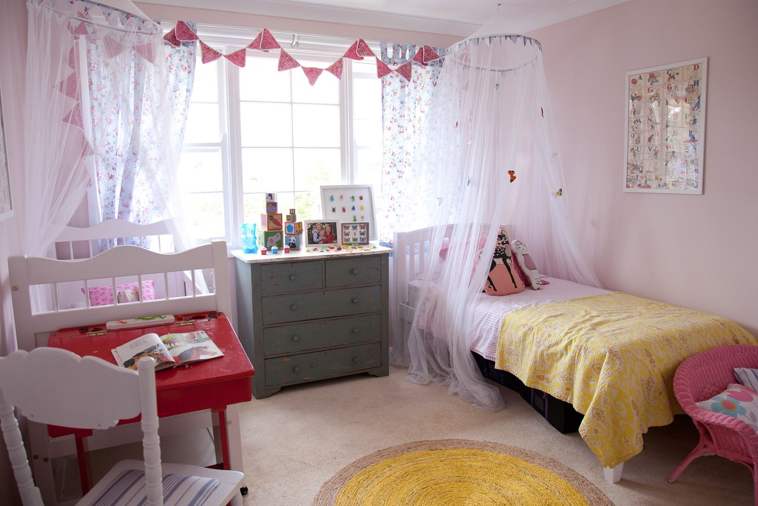 Loft bedroom ideas for teenage girls  Pretty in Pink The girlsu bedroom after Peter works his magic  The